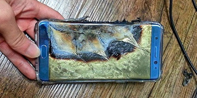 samsung galaxy note 7 brandschaden